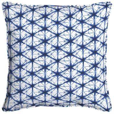 Midnight Shibori Square Outdoor Throw Pillow (2-Pack)
