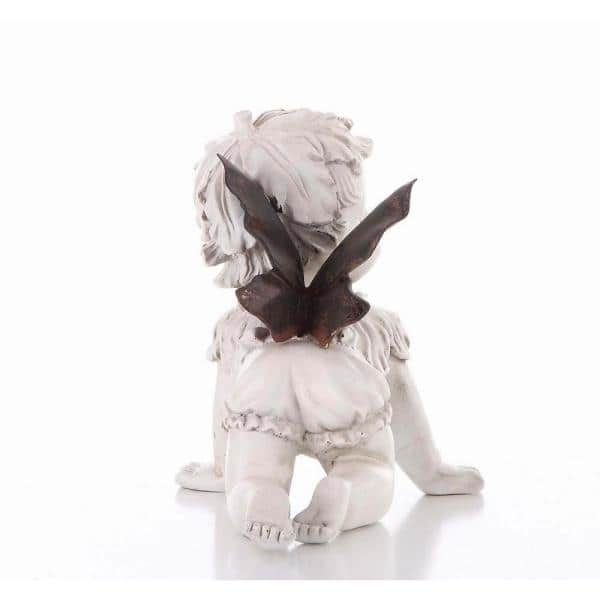 Hi Line Gift Baby Fairy Crawling Statue 77548cm The Home Depot
