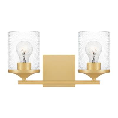Abner 2-Light Aged Brass Vanity Light