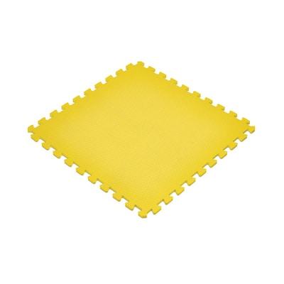 Yellow 24 in. x 24 in. EVA Foam Non-Toxic Solid Color Interlocking Tiles (168 sq. ft. - 42 tiles)