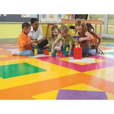 Imperial Texture VCT 12 in. x 12 in. Screamin Pumpkin Standard Excelon Commercial Vinyl Tile (45 sq. ft. / case)