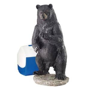 28 in. H Fishing for Trouble Bear Large Statue