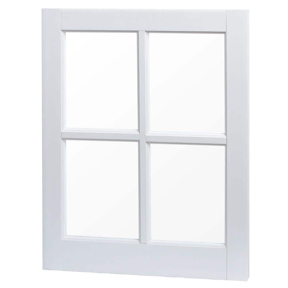 Tafco Windows 20 In X 25 In Utility Fixed Picture Vinyl Window With Grid White Vbs2025 The Home Depot