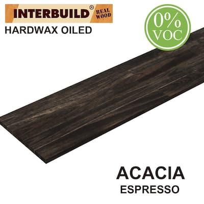 0.71 in. x 12 in. x 5 ft. Acacia Hardwood, Appearance Board, Espresso