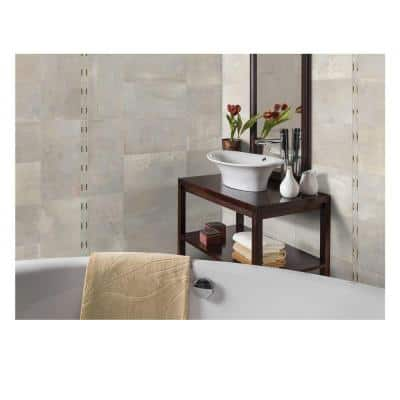 Developed by Nature Pebble 2 in. x 12 in. Porcelain and Metal Resin Deco Wall Tile (0.14 sq. ft. / piece)
