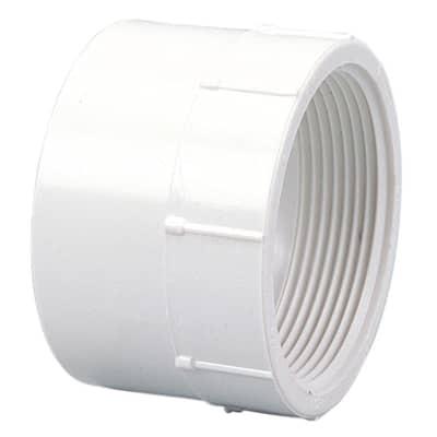 1-1/2 in. PVC DWV Hub x FIPT Female Adapter