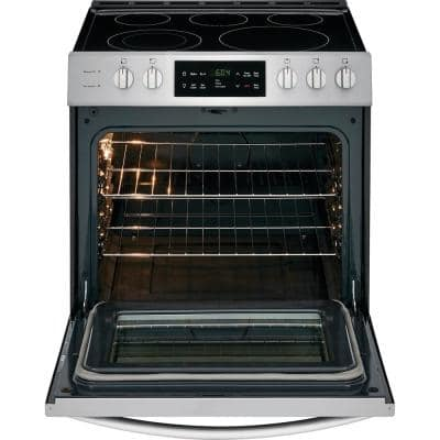 30 in. 5.0 cu. ft. Single Oven Electric Range with Self-Cleaning Oven in Stainless Steel