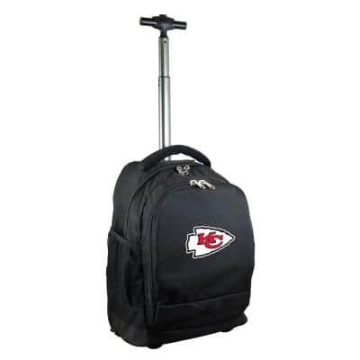 NFL Kansas City Chiefs 19 in. Black Wheeled Premium Backpack