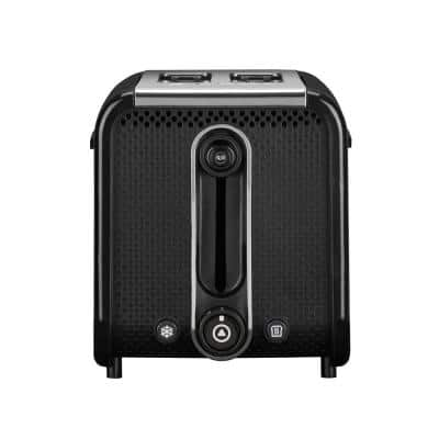 Studio 2-Slice Black Toaster with Crumb Tray