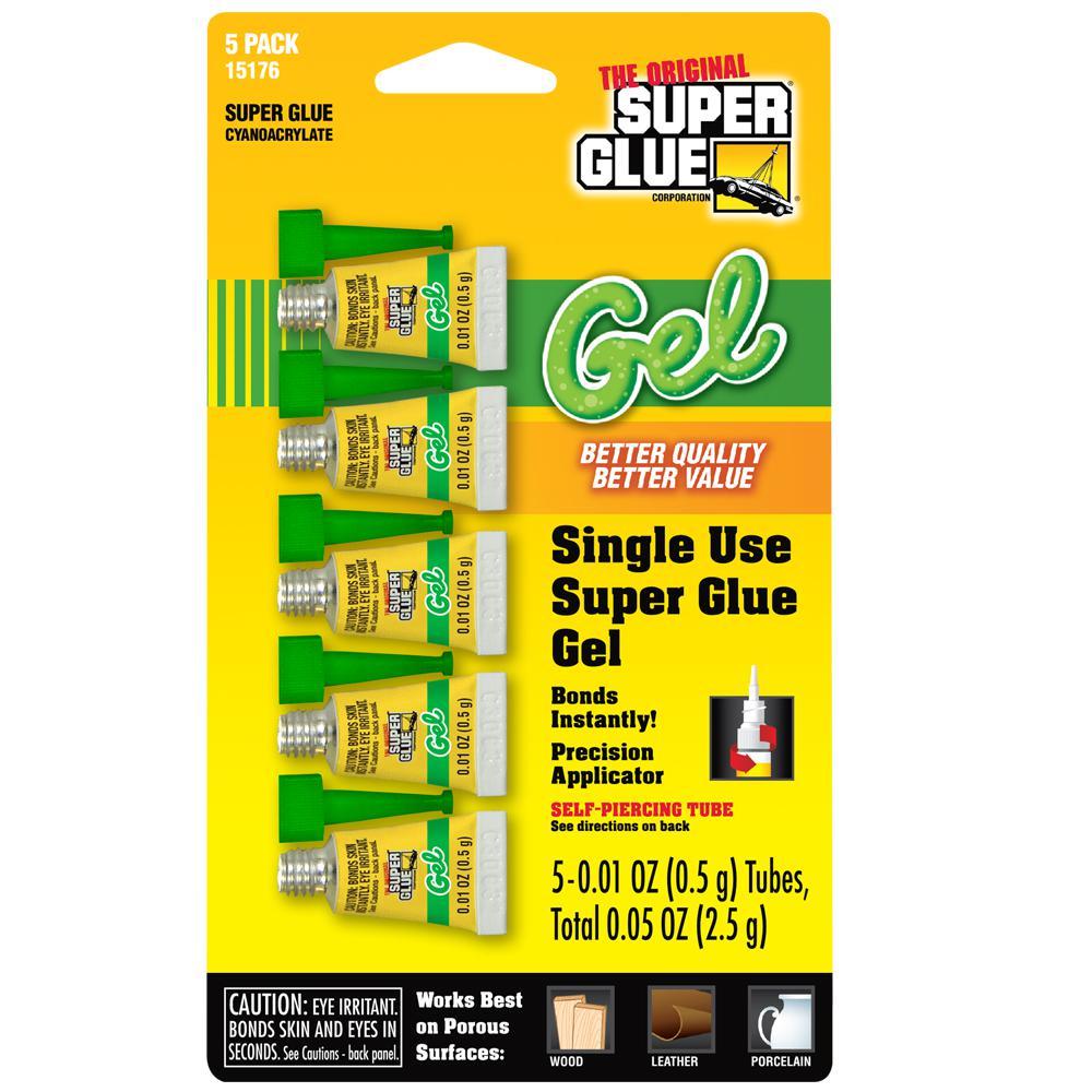 0.01 oz. Super Glue Gel Single Use Minis (5 per Pack) Tubes per Card (12-Pack)