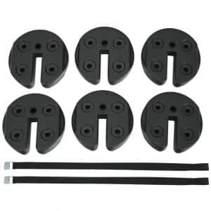 9.5 in. x 9.5 in. x 2.75 in. PE Foot Pads Water Filled Weight Plates for Canopy Tent (Set of 6)