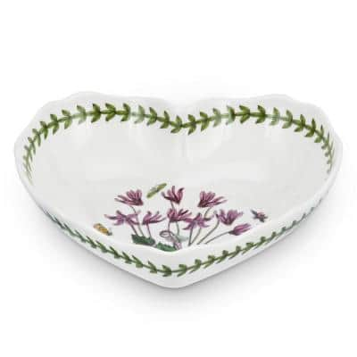 Botanic Garden White 8.5 in. Scalloped Heart Shaped Dish
