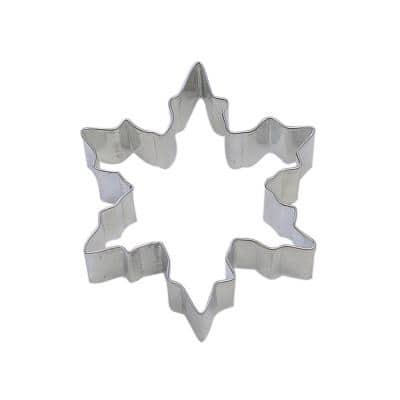 12-Piece Snowflake 3.75 in. Tinplated Steel Cookie Cutter & Recipe