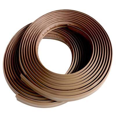 1/2 in. x 10 ft. Light Brown PVC Inside Corner Self-adhesive Flexible Caulk and Trim Molding (2-Pack)