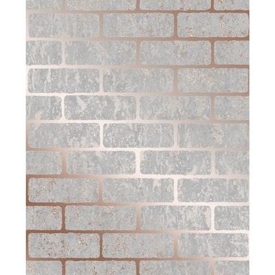 Milan Brick Vinyl Peelable Roll (Covers 56 sq. ft.)