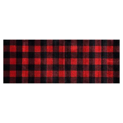 In-Home Washable/Non-Slip Buffalo Plaid Red 2 ft. 3 in. x 6 ft. 3 in. Runner Rug