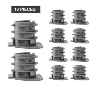 1/2 in. PEX Tubing Insulator Cap, Metal Stud Insulator, Cushions Wiring and Piping from Wood, Hard Plastic (10-Pack)