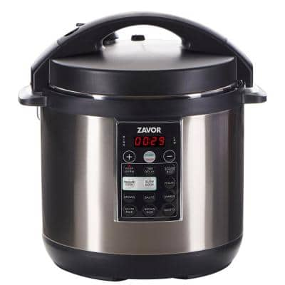 LUX 6 Qt. Stainless Steel Electric Pressure Cooker with Stainless Steel Cooking Pot