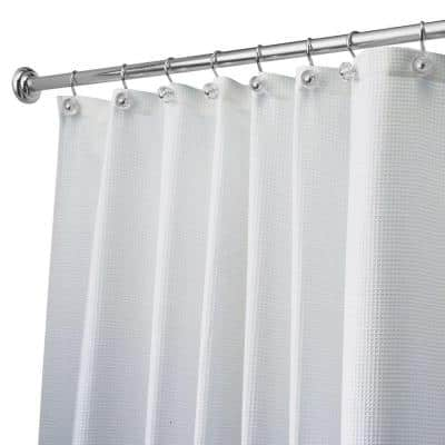 Carlton Stall-Size Shower Curtain in White
