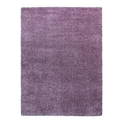 Thayer Lilac 7 ft. x 10 ft. Solid Shag Indoor Area Rug