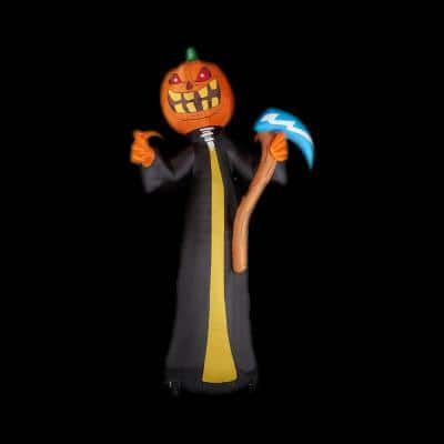 20 ft. Jack O'Lantern Reaper Halloween Inflatable with Lights