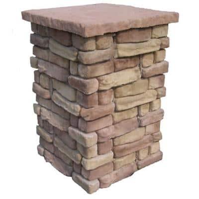 Random Stone Brown 36 in. Outdoor Decorative Column