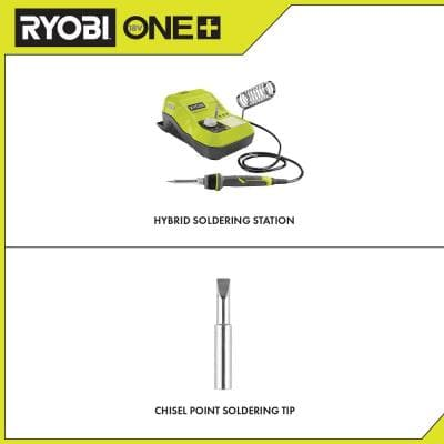 ONE+ 18V Hybrid Soldering Station (Tool-Only) with extra Chisel Point Soldering Tip