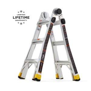 14 ft. Reach MPXA Aluminum Multi-Position Ladder with 300 lbs. Load Capacity Type IA Duty Rating
