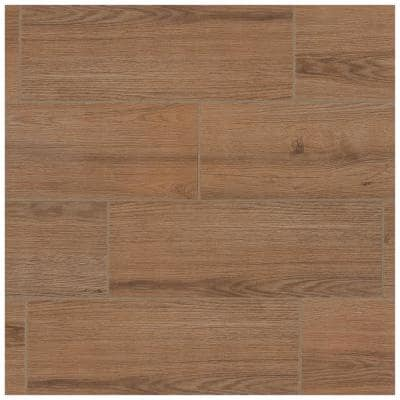 Glenwood Hickory 7 in. x 20 in. Glazed Ceramic Floor and Wall Tile (10.89 sq. ft. / case)
