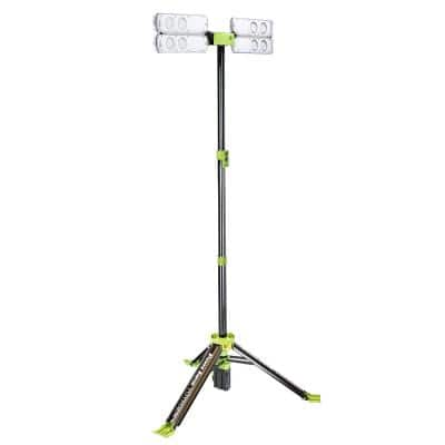 8000 Lumen Voyager Collapsible LED Work Light with 3-Way Power, Rechargeable Li-Ion Battery and Charger Included