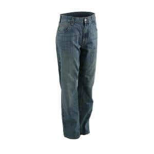 Berne 1915 Collection Men S 34 In X 40 In Stone Wash Dark Cotton Relaxed Fit Carpenter Jeans P423swd34400 The Home Depot