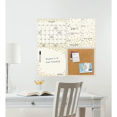 Gold Confetti Organization Kit Wall Decal