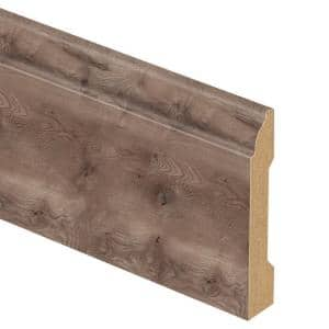 Anniston Oak 9/16 in. Thick x 3-1/4 in. Wide x 94 in. Length Laminate Base Molding