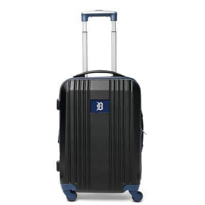 MLB Detroit Tigers 21 in. Navy Hardcase 2-Tone Luggage Carry-On Spinner Suitcase