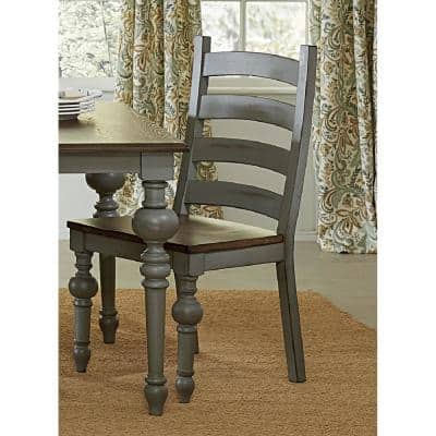 Colonnades Putty and Oak Ladder Dining Chairs (2-Count)