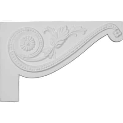 5/8 in. x 11 in. x 7 in. Polyurethane Right Large Pearl Stair Bracket Moulding