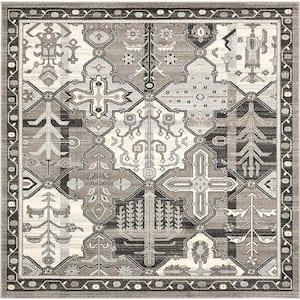 La Jolla Cathedral Gray 8' 0 x 8' 0 Square Rug