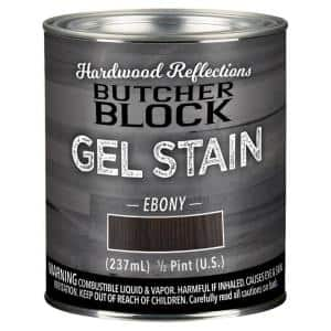 1/2-Pint Ebony Oil-Based Satin Interior Butcher Block Wood Gel Stain