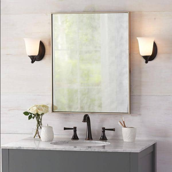 Home Decorators Collection 22 In W X, Framed Wall Mirrors For Bathrooms