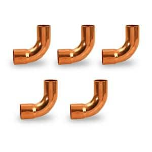 1/2 in. Copper FTG x C 90-Degree Long Radius Street Elbow Fitting (5-Pack)