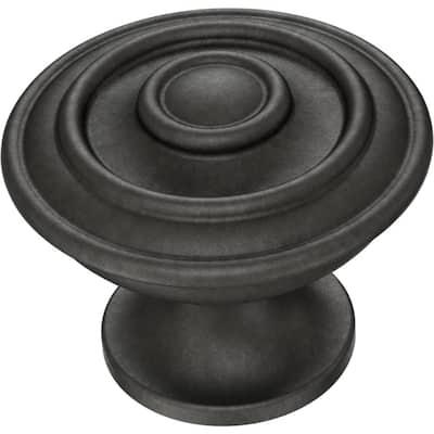 Essentials Hayes 1-1/4 in. (32 mm) Soft Iron Cabinet Knob (10-Pack)