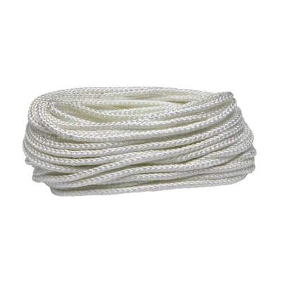 5/16 in. x 50 ft. White Polypropylene Diamond Braid Rope