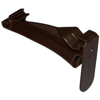 5 in. Brown Vinyl K-Style Hidden Gutter Hanger