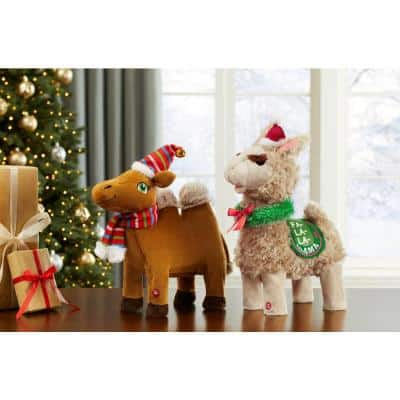 14 in. Darling Dancing Christmas Llamas & Camel - Two Asst.