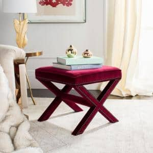 Palmer Red Accent Ottoman