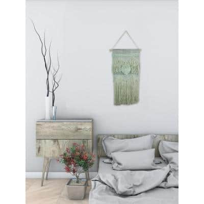 """Green """"Heart Macrame"""" by Marmont Hill Wall Tapestry"""