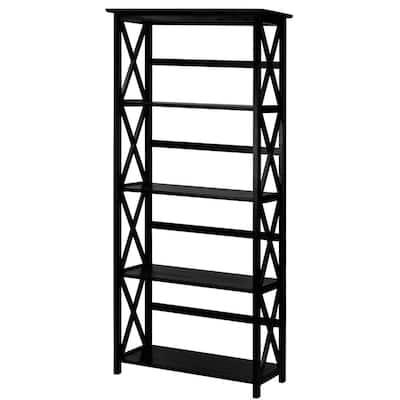Montego Black Open Bookcase