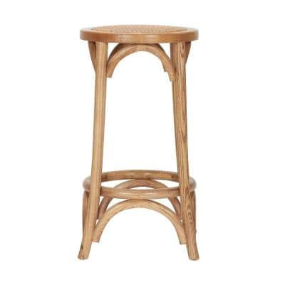 Mavery Patina Oak Finish Wood Backless Counter Stool (13.8 in. W x 26 in. H)