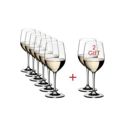 Vinum 12.35 fl.oz. Pay 6-Get 8-Viognier/Chardonnay Wine Glasses (Set of 8)