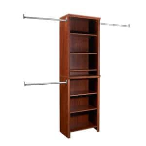 Impressions Standard 60 in. W - 120 in. W Dark Cherry Wood Closet System